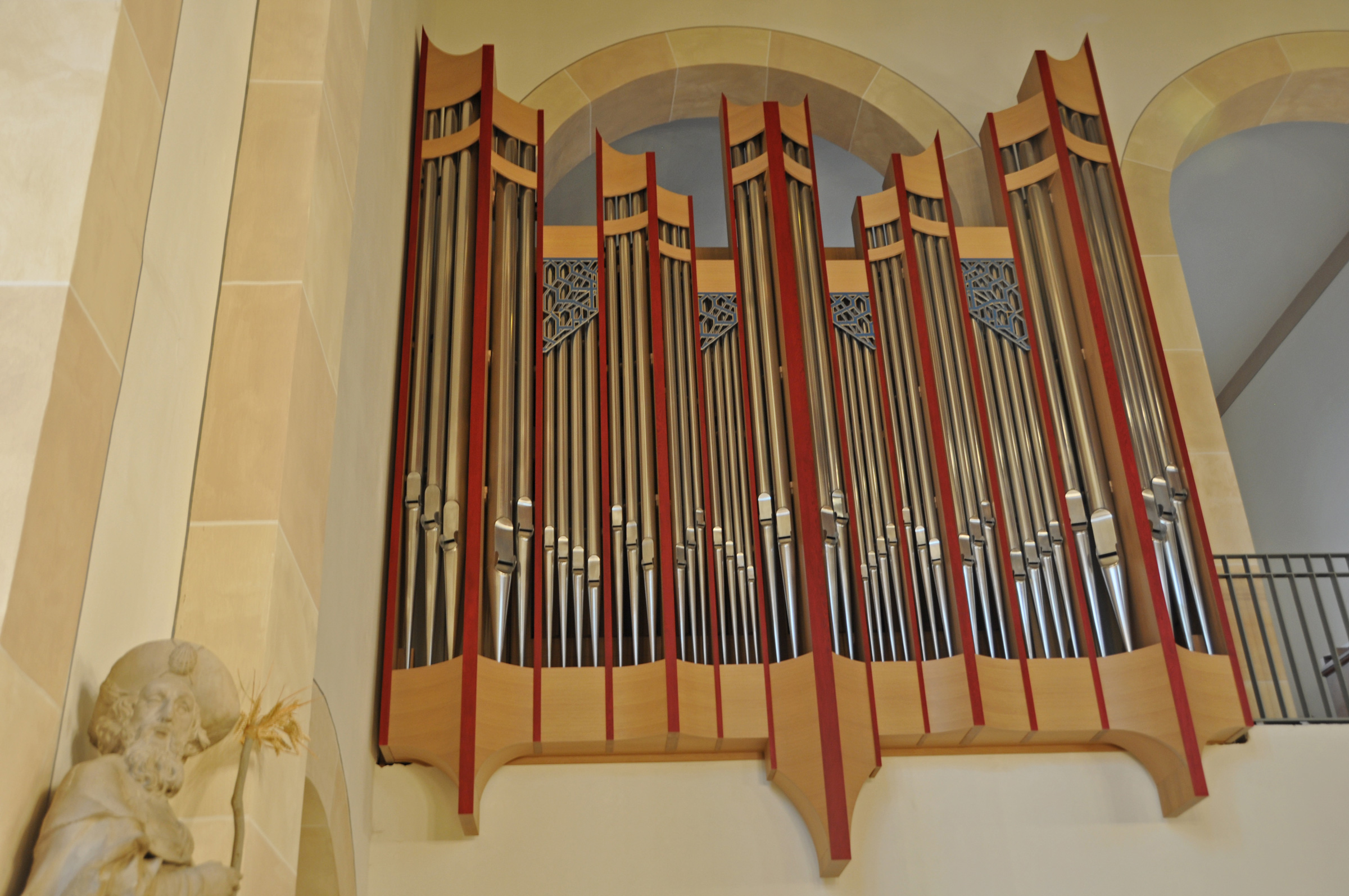 Coesfeld, St. Jakobi Prospektansicht Chororgel Projekte Orgelbau Sauer und Heinemann